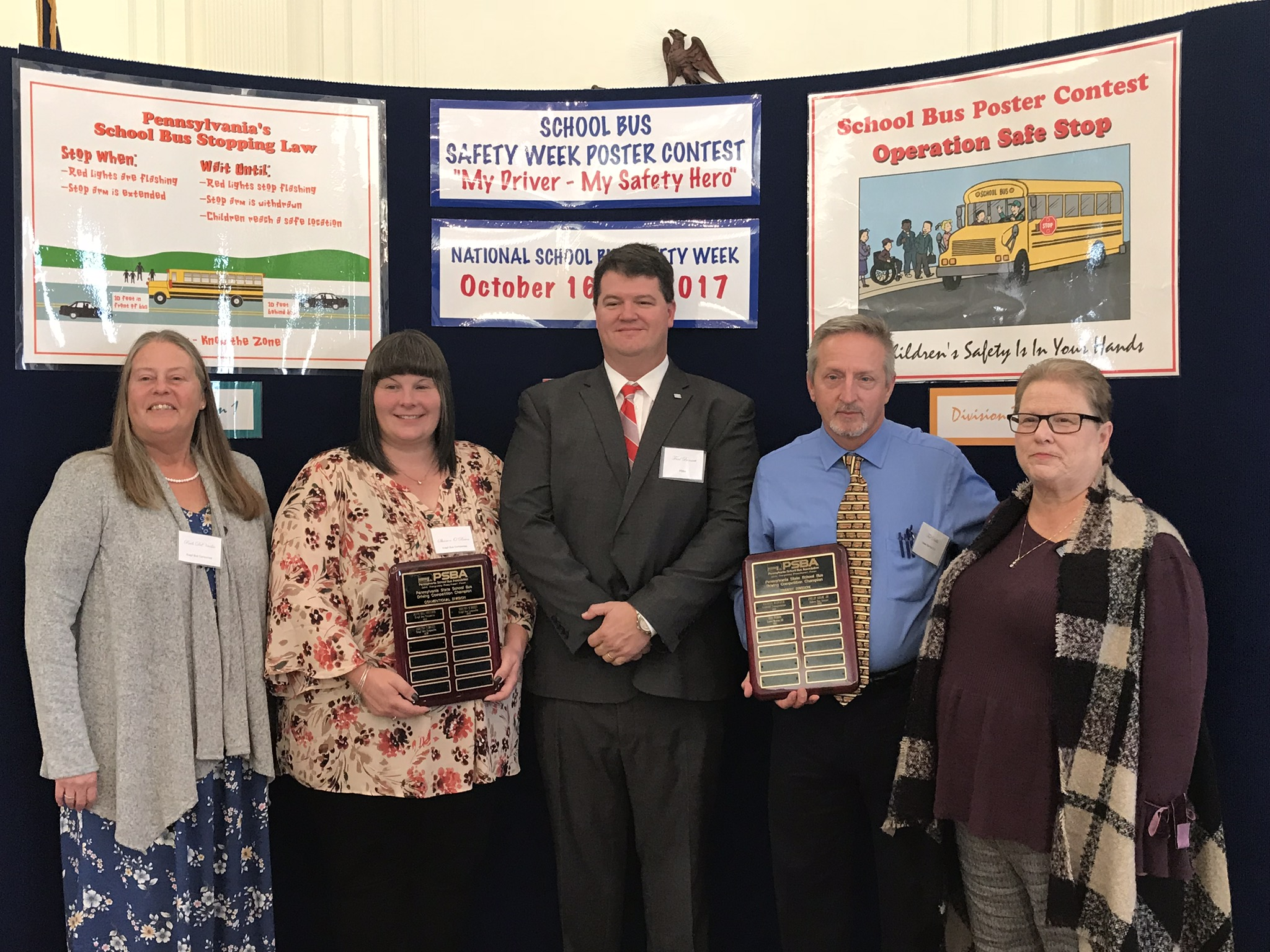 SCHOOL BUS DRIVERS & POSTER CONTEST WINNERS RECOGNIZED AT ANNUAL SCHOOL BUS SAFETY WEEK RECEPTION