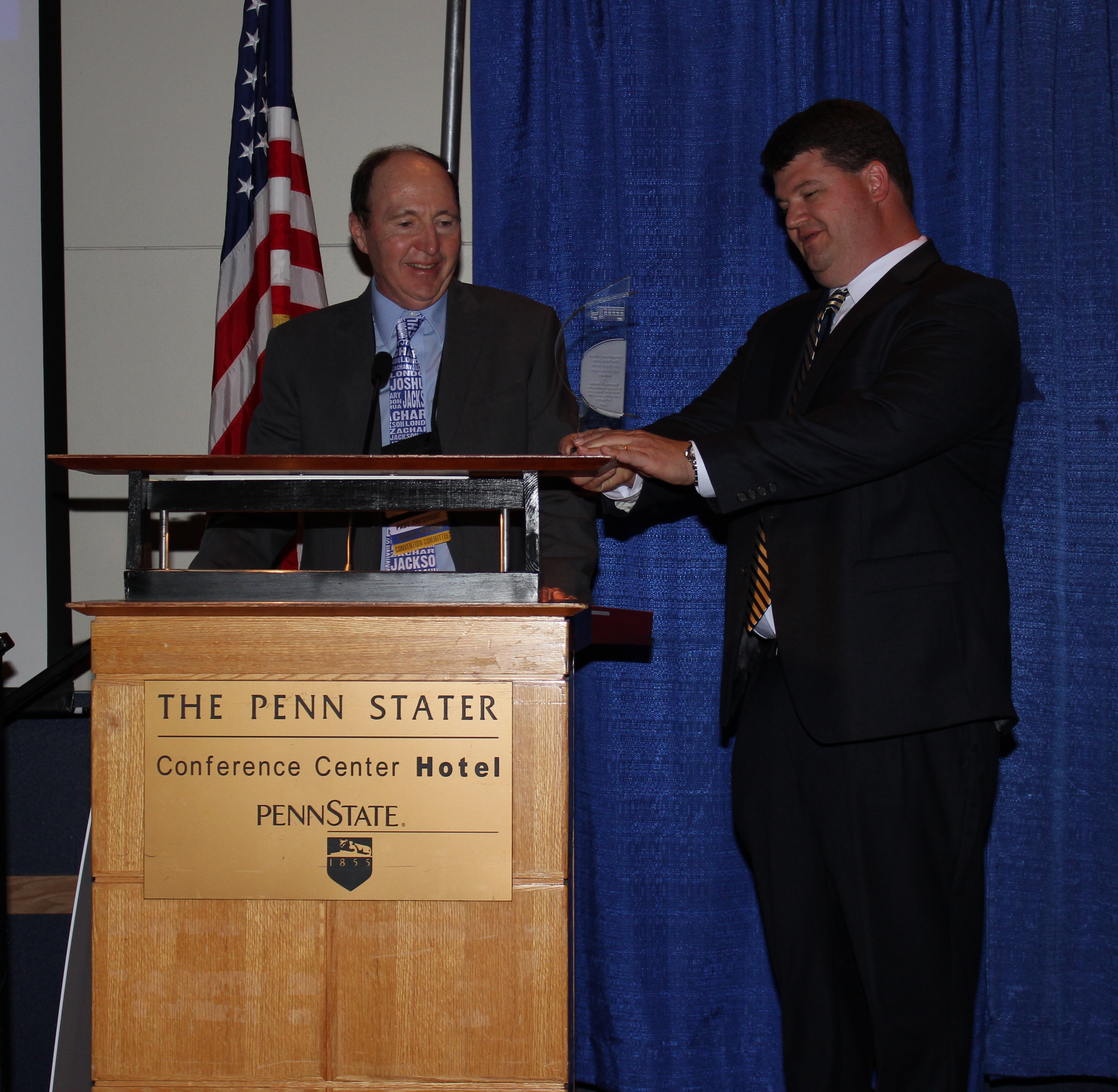 RANDY SMITH RECEIVES PSBA BUS STOPS HERE AWARD